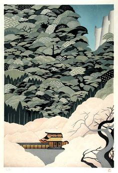 These beautiful woodblock made by Japanese printmaker and painter Ray Morimura