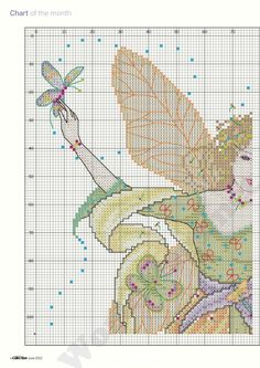 "Photo from album ""Cross Stitch Collection 210 июнь on Yandex. Cross Stitch Fairy, Cross Stitch Angels, Butterfly Cross Stitch, Diy Embroidery, Cross Stitch Embroidery, Cross Stitch Designs, Cross Stitch Patterns, Cross Stitch Collection, Tooth Fairy Pillow"