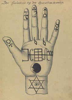 Hand from the Compendium rarissimum totius Artis Magicae, circa 1775.