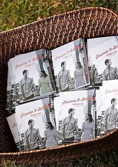 Super-sweet wedding idea: create a mini guesterly book featuring your wedding party and family. Perfect as a wedding welcome bag stuffer, wedding program, or even a guestbook!