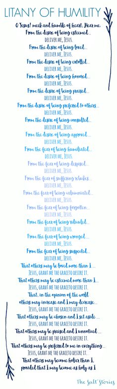 The Salt Stories: Litany of Humility... An Inconvenient Mercy  Printable litany of humility