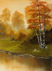 Bob Ross Painting - Autumn Splendor by C Steele
