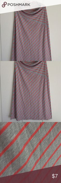 Coral and Gray Maxi Skirt This is a great Maxi for the spring and summer. Lovely coral color. Well loved but still in good condition. Faded Glory Skirts Maxi