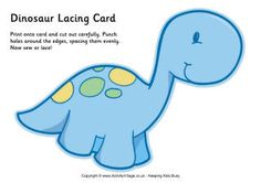 Enjoy our six dinosaur lacing cards, which make a lovely lacing project for little ones. Dinosaur Template, Dinosaur Printables, Dinosaur Cards, Cute Dinosaur, Dinosaur Birthday, Free Printables, Dinosaurs Preschool, Baby Dinosaurs, Lacing Cards
