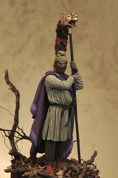 Art Girona - 54 mm - Decebalus 'The Brave'. King of Dacia, 87-106 a.C. Sculpted by Adriano Laruccia - 54mm -