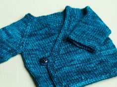 The pattern is the Seamless Infant Kimono, and the yarn is a single skein of   Tosh Merino in Baltic.