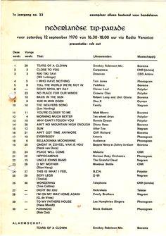 Foto's Radio Veronica 1970s Music, Smokey Robinson, Old Time Radio, Music Charts, History Timeline, Song List, Ol Days, Good Ol, Make Me Happy