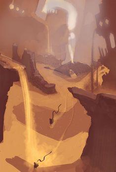 Des concepts arts reposants pour Journey