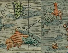 These drawings of sea monsters, taken from books written in Europe centuries ago, prove that you don't need CGI to create a seriously incredible creature. Sea Pirates, Arte Tribal, Old Maps, Sea Monsters, Sci Fi, Sketches, Europe, The Incredibles, Fantasy