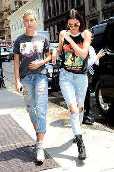 Hailey Baldwin & Kendall Jenner in Soho, NY