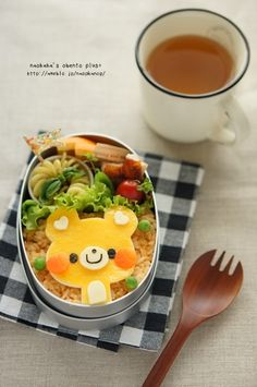 yellow bear bento