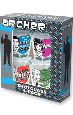 ChiLL this out … Awesome CooL Gift ideas … Gifts for Geek Men & Women - Archer shotglass - TV shows CooL Collectibles ...