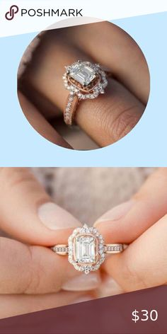 Leisuraly New Blue Diamond Jewelry Wedding Band Engagement Rings Overseas Import Products Specialty Store