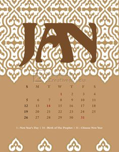Our January 2014 calendar design.