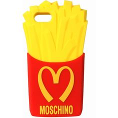 Moschino Runway Capsule Collection I-phone case ($65) ❤ liked on Polyvore featuring accessories, tech accessories, phone cases, phone, cases, electronics, red and moschino
