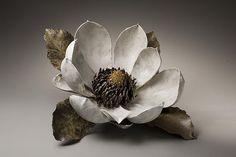 Sculpture of a Magnolia, ca. 2008 Stoneware 9 7/8 x 19 5/8 x 19 5/8 inches Inv# 5919 SOLD Image