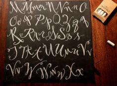 Chalk board letters M-X