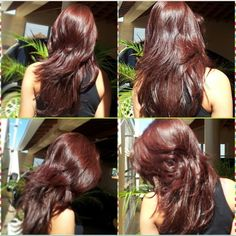 Awesome layers Auburn Hair, Hair Hacks, Hair Inspo, Hair Goals, Dyed Hair, Color Borgoña, Cool Hairstyles, Hair Care, Hair Beauty