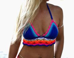 Crochet Crop Top. Sea Foam. by makunaima on Etsy