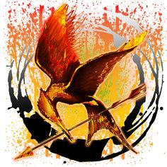 Bird on Fire the Mockingjay HungerGamesGear.com Also available at: CafePress.com/HungerGamesGear Officially licensed designs for t-shirts and gifts for The Hunger Games, Catching Fire and Mockingjay! Get your Hunger Games Gear on! HungerGamesGear.com