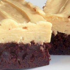 Buttermilk Brownies With Peanut Butter Cream Cheese Icing – They are chewy, fudgy, rich and delicious.