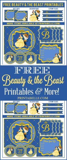 Free Beauty & the Beast Printables and more! – Free Party Printables at Printabelle