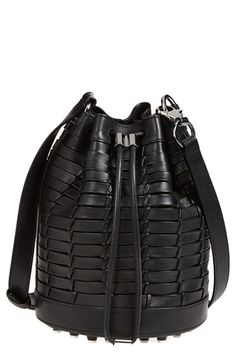 Alexander Wang 'Alpha' Woven Leather Bucket Bag available at #Nordstrom