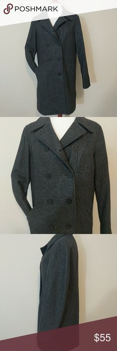 Beautiful GAP wool Pea coat NWOT 💥12hr sale💥 Never worn, charcoal, wool, lined, size med GAP Jackets & Coats Pea Coats