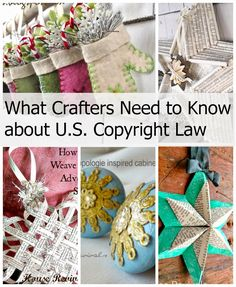 What Crafters Need to Know About U.S. Copyright Law A well written article on a subject we creatives need to know about.