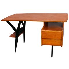 Very Rare Desk By Louis Paolozzi For Guermonprez - France 1950's | From a unique collection of antique and modern desks at http://www.1stdibs.com/furniture/storage-case-pieces/desks/