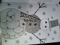 ZenTangled snowman