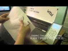 Silhouette fabric & heat transfer vinyl tutorial - YouTube