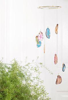 Agate Mobile DIY | A Beautiful Mess | Bloglovin'