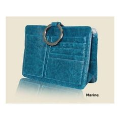 Marine Blue Leatherette Pouchee Purse Insert Ultimate Organizer From the Outback Collection