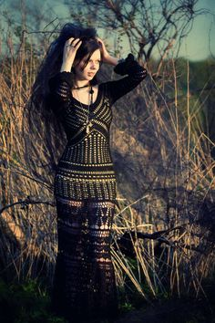 Gorgeous Black Crochet dress.  Great Blog!