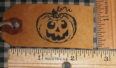 25 SMALL ~HALLOWEEN CARVED PUMPKIN ~ PRIMITIVE HANDMADE HANG TAGS LOT (188)
