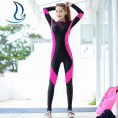 MEIYIER Lace Wetsuit Women Patchwork Swimming Spearfishing Suit Long Sleeve One Piece Diving Suit Rash Guard Wetsuits Surfing