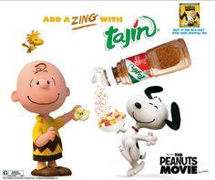 Charlie Brown and Snoopy love #Tajin on their fruits ;) #PeanutsMovie