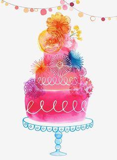 49 ideas birthday happy illustration cakes for 2019 Birthday Messages, Birthday Images, Birthday Wishes, Cake Birthday, Happy Anniversary, Anniversary Cards, Wedding Anniversary, Happy B Day, Happy Art