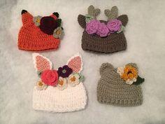Wildflower hat crochet pattern