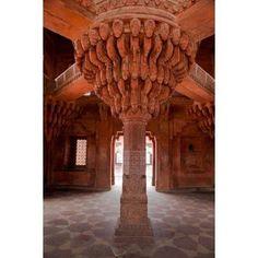 Uttar Pradesh India The Throne Pillar in the Diwan-i-Khas Canvas Art - Charles O Cecil DanitaDelimont (25 x 38)