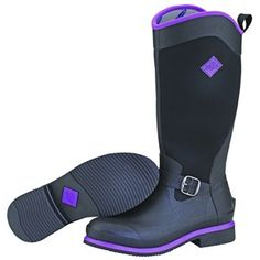 Step out in style whatever the weather with these Reign Muck Boots in Black / Purple!