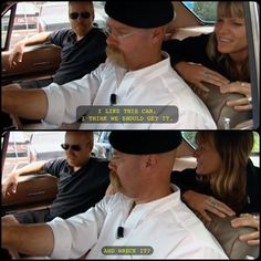 Jamie and Adam on car shopping #mythbusters