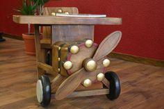 Dětský stoleček a židlička dřevěný letadlo - 2