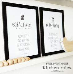 bijdeb: Free printable A4 posters kitchen rules...