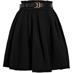 Preen Saloon twill pleated skirt (40,685 PHP) ❤ liked on Polyvore featuring skirts, bottoms, saias, faldas, twill skirt, preen skirts and pleated skirt