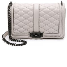 Rebecca Minkoff Love Cross Body Bag (4 675 ZAR) ❤ liked on Polyvore featuring bags, handbags, shoulder bags, putty, white leather purse, white handbags, genuine leather handbags, leather crossbody and leather shoulder handbags