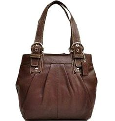 Coach Leather Soho Pleated North South Bag $289
