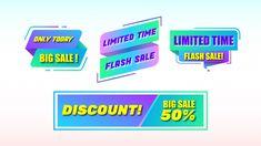 Sale banners set Premium Vector | Premium Vector #Freepik #vector #banner Price Tag Design, Black Friday Offer, Cyber Monday Sales, Retro Futuristic, Label Templates, Sale Banner, Banner Design, How To Draw Hands, Banners