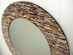 18 inch diameter neutral round  mirror wall by colorstorydesigns, $180.00